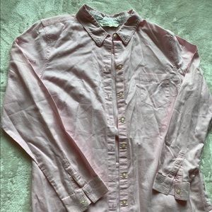 Old Navy Blush Pink Casual Button Down Top Sz L